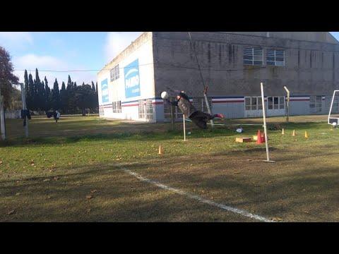 Entrenamiento de arqueros en el Club Atlético Jorge Newbery VT.