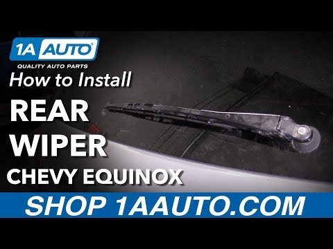 How to Replace Rear Wiper 10-17 Chevy Equinox