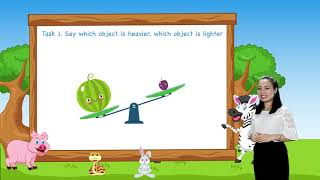 Math For Kids   Lesson 37. Heavier and Lighter - Measurement for Kids   Grade K