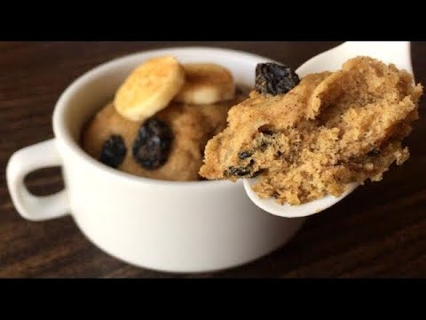 Microwave Banana Cake | Easy & Healthy Mug Cake Recipe | Em's Kitchen
