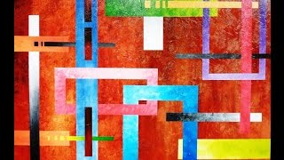 Video Geometric Abstract Art lesson preview how to paint large texture artworks download MP3, 3GP, MP4, WEBM, AVI, FLV Juni 2018