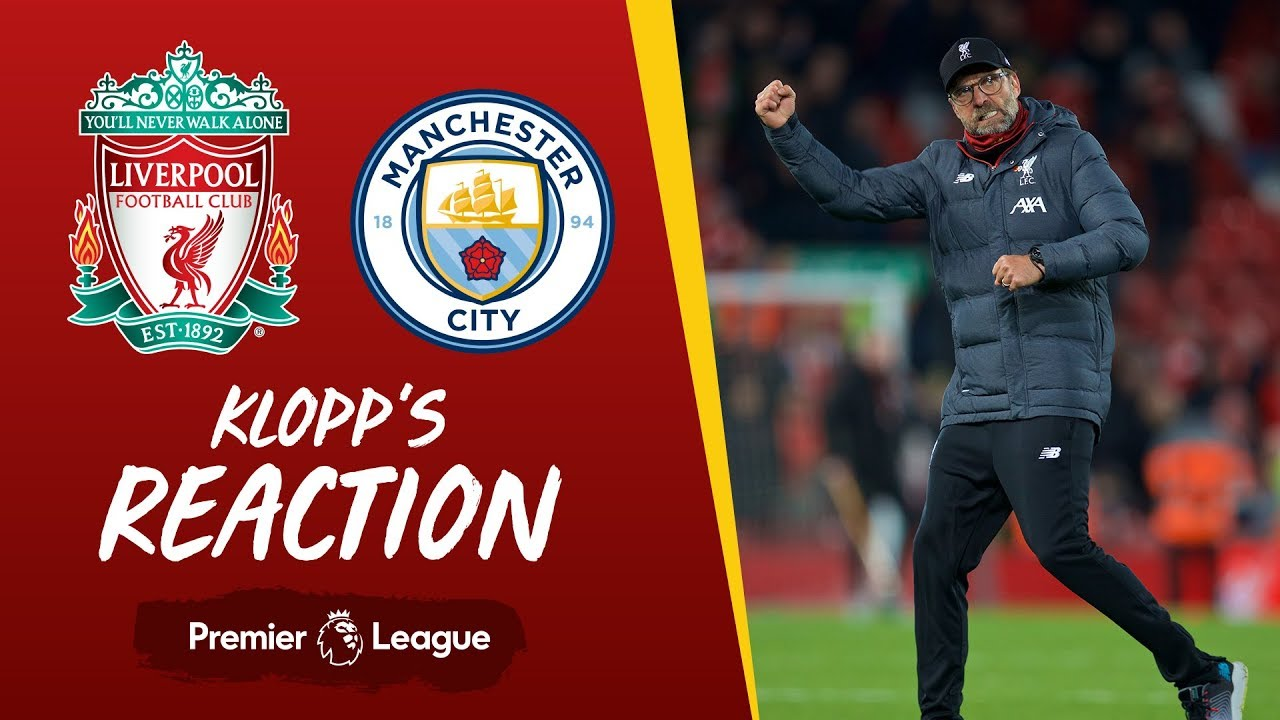 Klopp S Reaction It Was Intense From The First Minute Liverpool V Man City