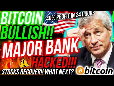 MAJOR BANK HACKED! MILLIONS MISSING! Bitcoin BULLISH! Stock Market RALLY! Altcoin, XRP & Crypto News