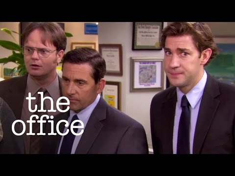 Michael Scott Falls into a Koi Pond - The Office US