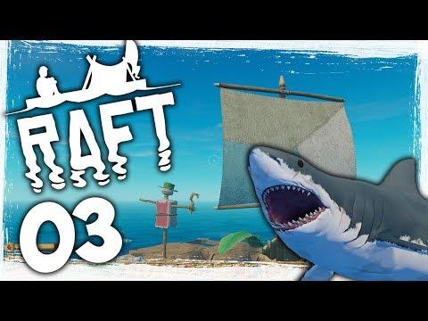 Huge Raft Update! - Ep 03 - Sailing On The Ocean! - Let's Play Raft Gameplay