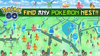 How to find Pokemon nest in Pokemon go. New trick to find any Pokemon nest. New Pokemon Nests