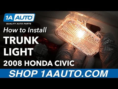 How to Replace Trunk Courtesy Light Bulb and Lens 05-11 Honda Civic