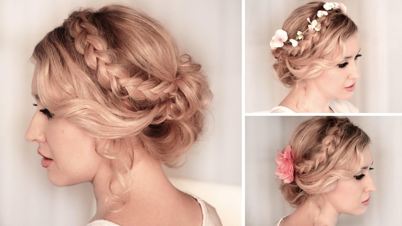 Braided Updo Hairstyle For Medium Long Hair Tutorial ❤ Wedding