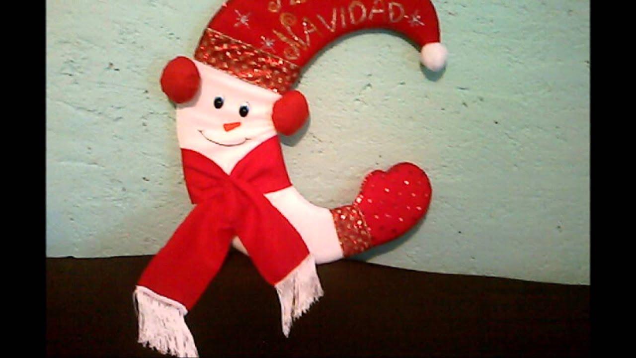 Manualidades en fieltro navide o youtube - Manualidades de ganchillo para navidad ...