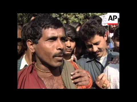 INDIA: DELHI: PROTESTS OVER FOOD & FUEL PRICE RISES
