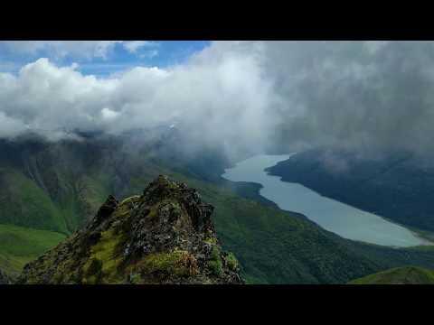 West Twin Peak, Chugach Mountains, Alaska - Ascent and Summit Panorama