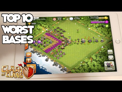 Top 10 Worst Clash of Clans Bases
