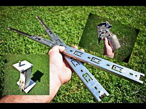 METAL DRAWER SLIDES and 12v DC WIPER MOTOR ??? / DIY Spindle Sander Oscillating Machine