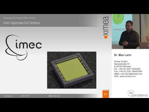 Hyperspectral HSI Cameras presentation on the Vision show 2014