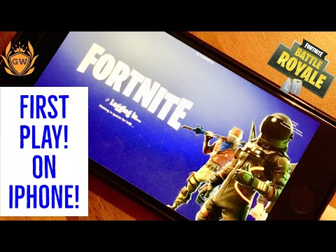 FORTNITE MOBILE FIRST PLAY! iPhone gameplay! Fortnite Battle Royale! Fortnite ios gameplay!