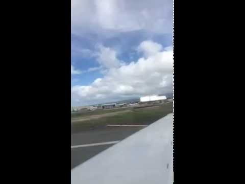iphone5s time lapse/Taking off from Honolulu international airport