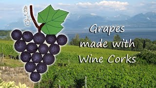 This craft turns wine corks into grapes