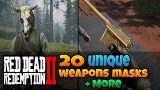 20 Unique Weapons, Masks, Hats and More In Red Dead Redemption 2 (RDR 2 Ultimate Unique Items Guide)