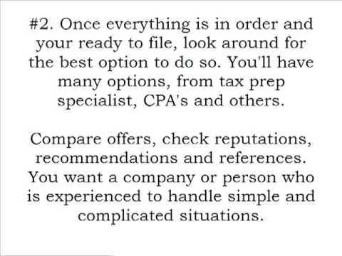 Denver Tax Services – Income Tax Preparation Tips