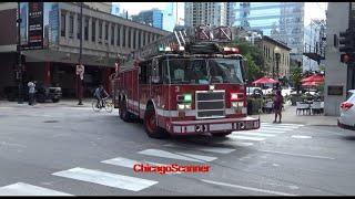 Chicago Fire Department Truck 3 & Battalion 1 Responding