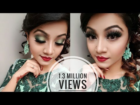 Minty Green Eye Makeup Tutorial – Wedding Guest / Party Makeup Look
