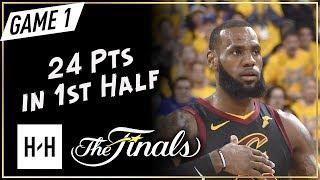 LeBron James Scores 24 Pts in 1st Half - Game 1 - Cavaliers vs Warriors - 2018 NBA Finals