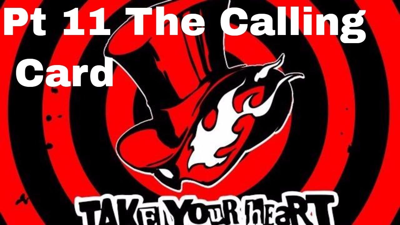 persona 5 walkthrough part 11 the calling card  youtube