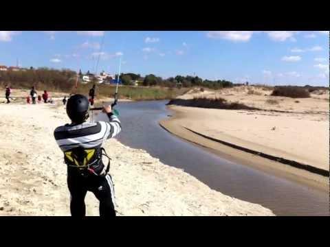 flysurfer jumping over a river (skd)