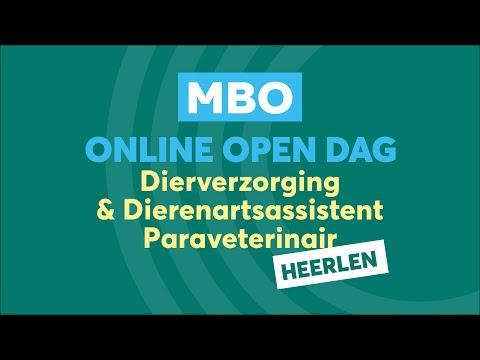 Heerlen MBO Dierverzorging en dierenartsassistent Online Open Dag