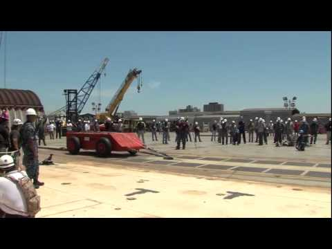 Aircraft Carrier Tests Catapult By Launching a Vehicle Into The Ocean