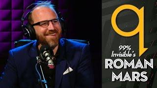 99% Invisible's Roman Mars in studio q