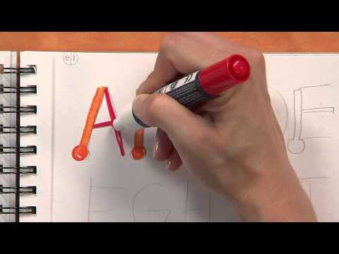 Simple Calligraphy Tutorial for Kids - YouTube
