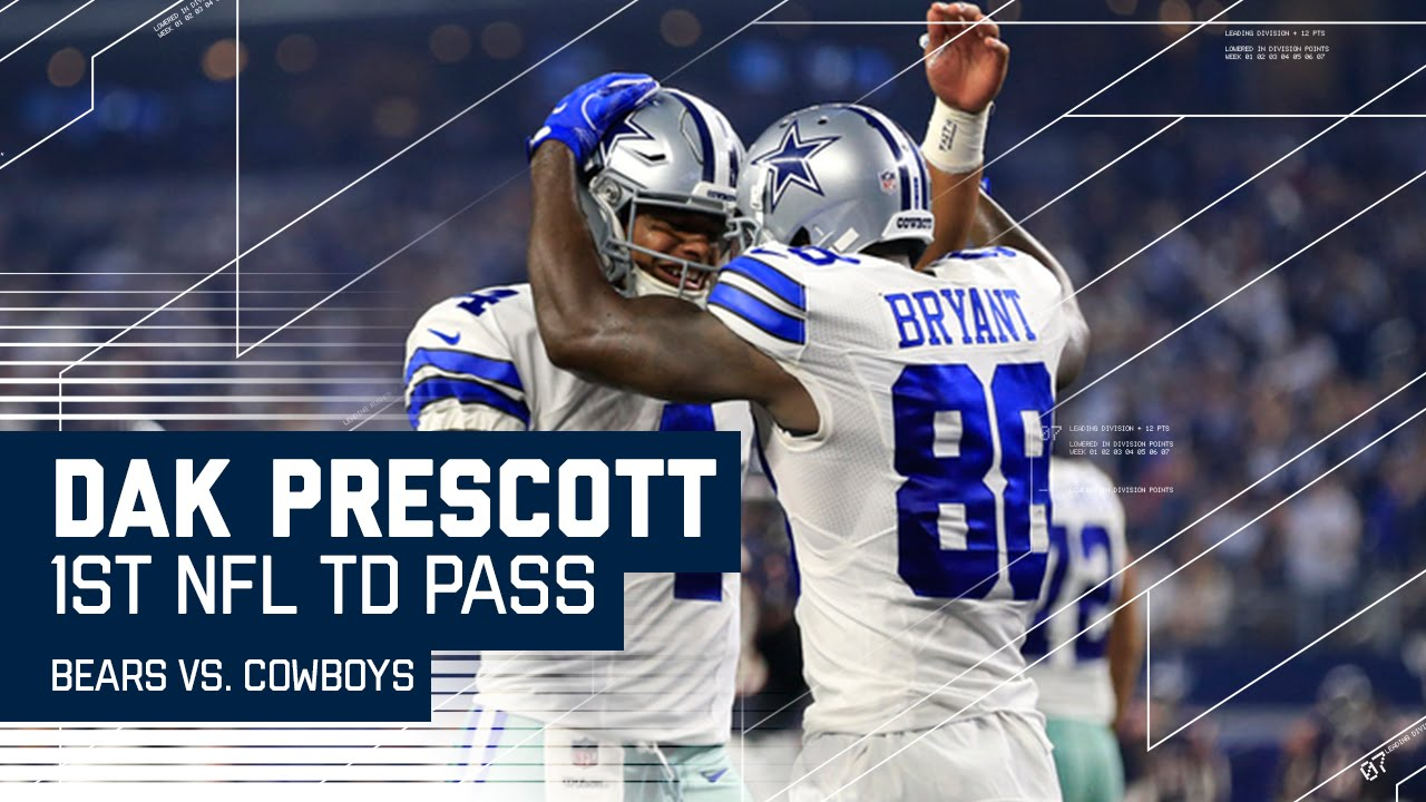7c6eeaba510 Dak Prescott Throws 1st Career TD Pass!
