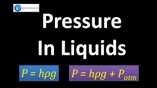 Liquid Pressure | Force and Pressure