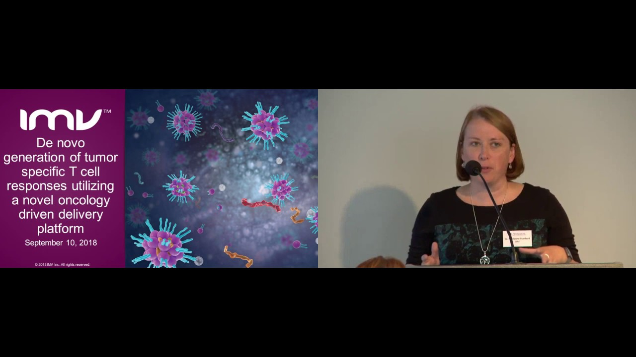 Marianne Stanford: De novo generation of tumor specific T cell responses