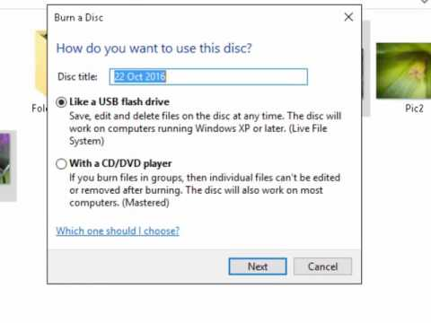 How to Burn Photos to a CD or DVD in Windows 10