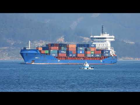 ARIES J Leaving the estuary of Vigo (ES) towards Tanger Med (MA) - 14 february 2019