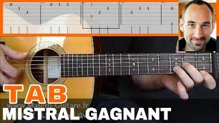 Mistral Gagnant - Tablature Guitare