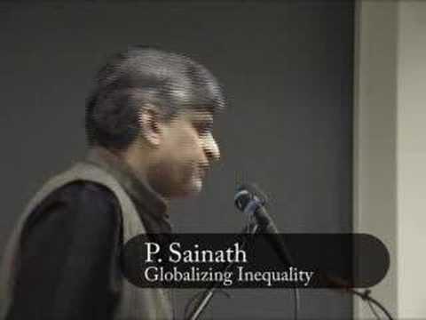 P. Sainath:  Globalizing Inequality