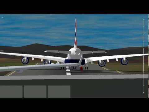 Airbus A380 Slow Landing