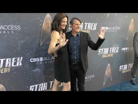 Terry Farrell and Adam Nimoy at the Star Trek Discovery Premiere at ArcLight Theatre in Hollywood