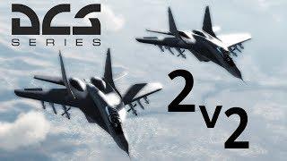 DCS: 2v2  Mig-29 vs F-18 Hornet BVR/Dogfight