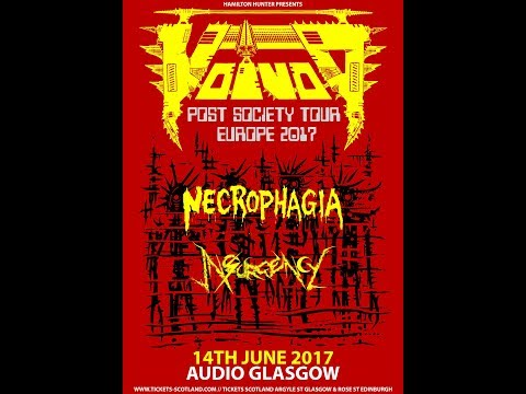 Voivod (CAN) - Live at Audio, Glasgow 14th June 2017 FULL SHOW HD