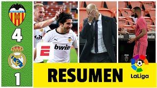 Valencia 4-1 Real Madrid. Humillante derrota del equipo de Zidane. Benzema salió lesionado | LaLiga