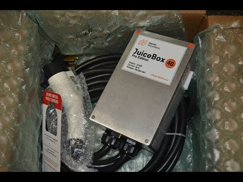 Unboxing my JuiceBox Pro 40 Level 2 electric car EVSE charger -- Electric MotorWerks