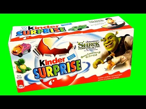 shrek kinder surprise box of eggs by toycollector. Black Bedroom Furniture Sets. Home Design Ideas