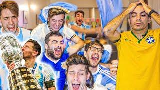 Reacciones de amigos   Argentina vs Brasil   FINAL Copa América 2021