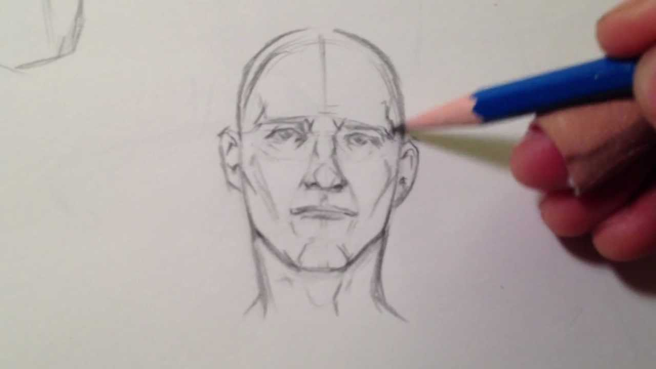 quick head sketch youtube