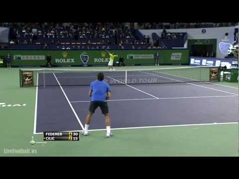 [HD] Roger Federer vs  Marin Cilic Shanghai 2012
