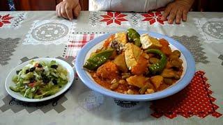 الكسكسي التونسي مع السمك ( بالحوت ) - Tunisian couscous with fish - Couscous Tunisien au poisson